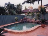 Swimming pool after clean up and renovation
